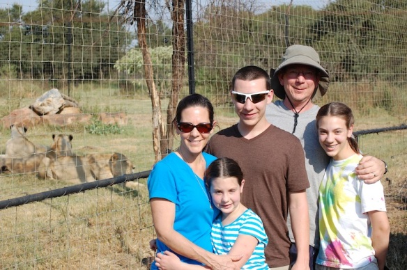 The Bush Family with lions!