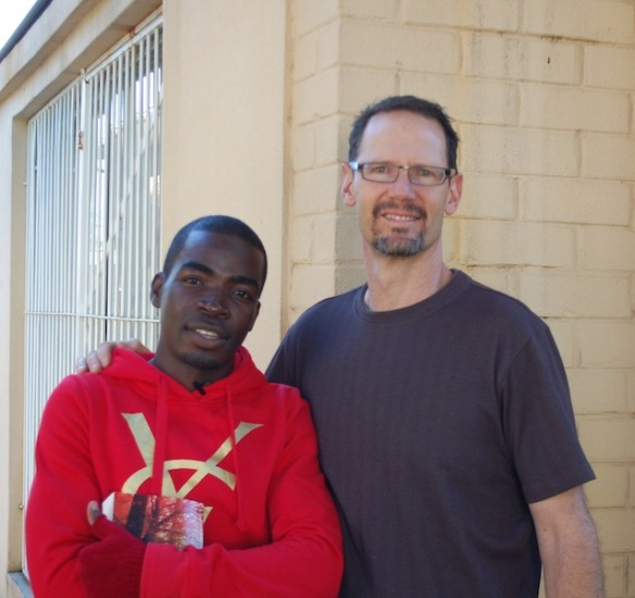Randy with Ali, a young man from the Democratic Republic of the Congo, who he helps disciple.