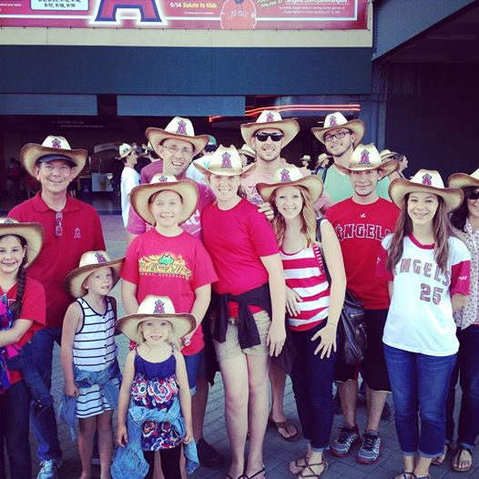 Part of the Mack family and Andre at an Angel game!