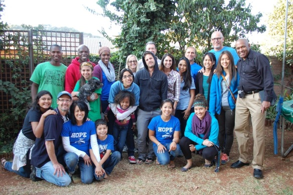 Hope For Swazi team in our front yard!  It was a precious week with them and lives were transformed!