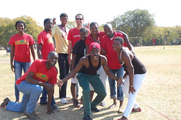 Red Salvakop reigned as volleyball champs.