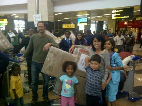 Landing in SA